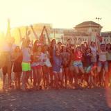 Taronja School en la playa de Valencia