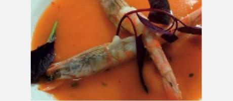 Img 1: Velouté de langostinos y ñoras