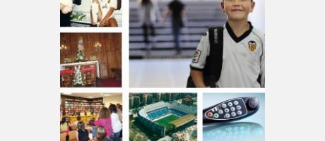 Distintas imágenes relacionadas con el equipo de fútbol VCF
