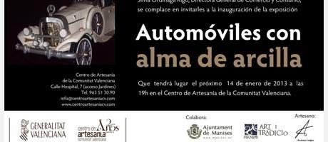 Img 1: Automóviles con alma de arcilla en el Centro de Artesanía de la Comunitat Valenciana de Valencia