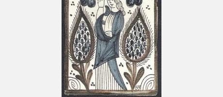 Socarrat de mujer en tonos azul