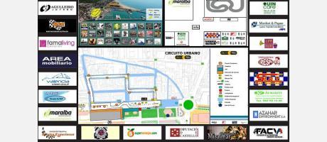 Plano del circuito urbano Burriana Port circuit