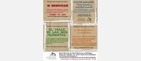 Actividades noviembre 2013. Real Monasterio de Santa Maria de la Valldigna.