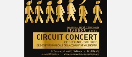 Cartel oficial de los conciertos de bandas en el Museo de Etnología