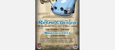 Coche y moto de época para anunciar la Retro Clásica 2013 en Manises