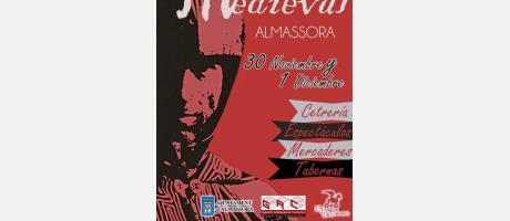 Cartel oficial del mercado medieval de Almassora 2013