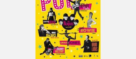 Cartel oficial de la exposición ídolos del Pop