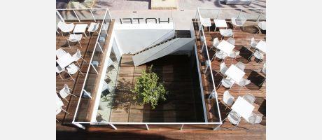 La terraza del Hotel de la Playa