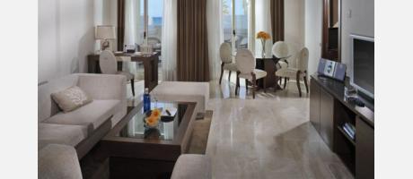 El salón de una suite
