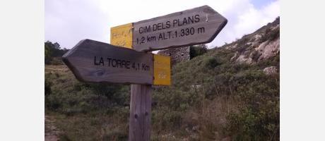 Señalización en la Travessia dels 8 mils con Arrels