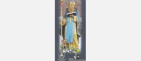 Imagen del San Antonio Abad acompañado de un pequeño cerdito