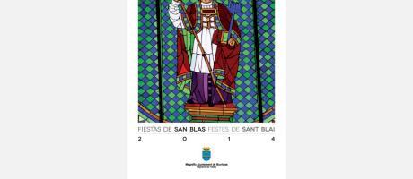 Cartel fiestas Sant Blai 2014 Burriana