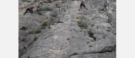 Escalada en Morro de Toix en Altea