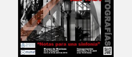 """diferentes imágenes en blanco y negro de las obras """"Notas para una sinfonía"""""""
