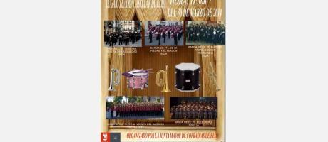 Cartel XI Exhibición de Bandas de Cornetas y Tambores