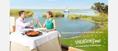 Gráfica Vacacionismo gastronomía Albufera