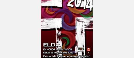 Cartel Moros y Cristianos Elda 2014