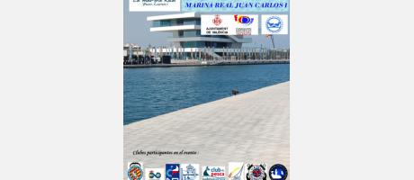 Cartel del Maratón de Pesca, puerto y edificio Veles e vents