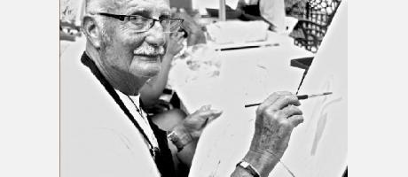 José Royo pintando.