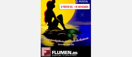 """Cartel de """"La Sirenita"""" en el teatro Flumen"""