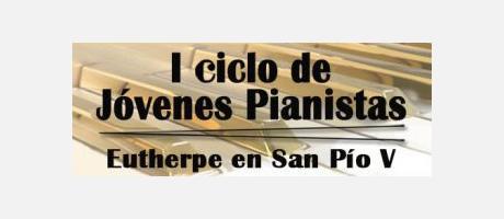 Cartel oficial del ciclo de pianistas en el Museo de Bellas Artes