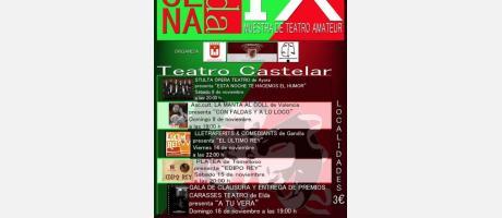 Cartel del IX Muestra Teatro Amateur