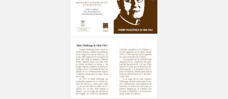 """Cartel exposición """"Pare Vilallonga"""""""