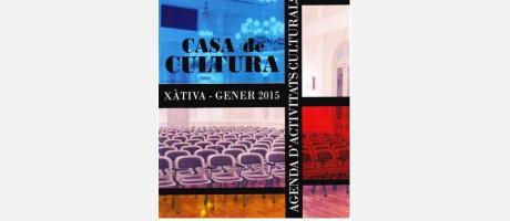 Agenda enero 2015 Xàtiva Casa de la cultura
