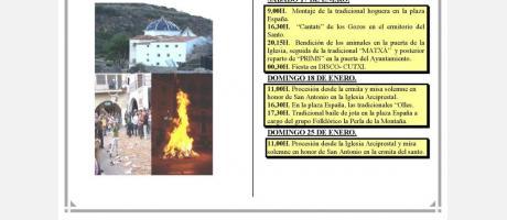 Programa San Antonio en Lucena del Cid