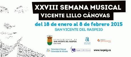 XXVIII  Semana Musical Vicente Lillo Cánovas 2015