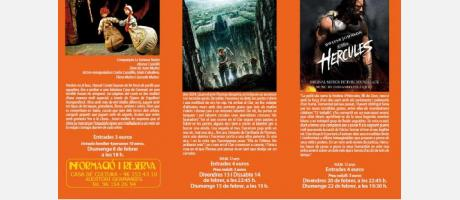 Imágenes de las películas y del teatro