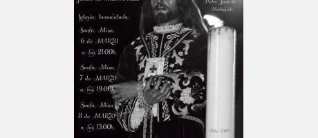 Cartel Triduo en Honor a Nuestro Padre Jesús de Medinaceli
