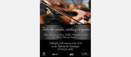 Cartel trío viola, violín y órgano