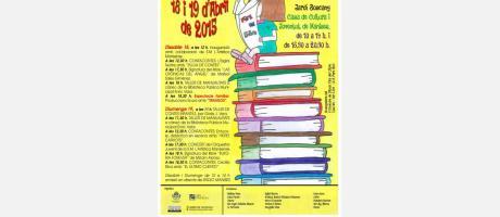 Cartel anunciador de la XIII Feria del Libro Manises