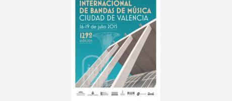 Cartel oficial del Certamen Internacional de Bandas de Música Ciudad de Valencia