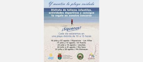 Vive Pilar de la Horadada y mantén la playa cuidada