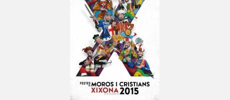 Cartel anunciador de las fiestas de Moros y Cristianos de Jijona 2015