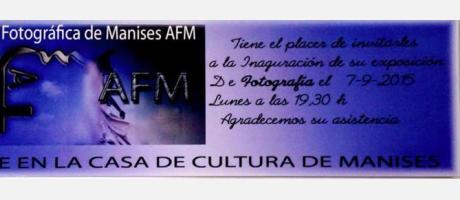 Exposición de fotografía en la casa de la cultura del 7 al 30 de septiembre