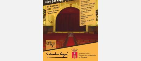 Cartel anunciador de Un día en la Ópera en Segorbe