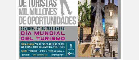 Cartel Promocional del Dia Mundial del Turismo - DMT- 2015 en Ibi
