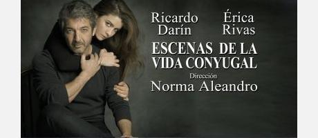 cartel de la obra escenas de la vida conyugal con sus protagonistas en portada