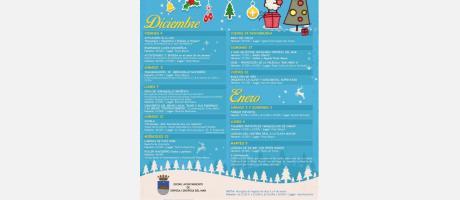 Cartel programación Navidad en Oropesa del Mar