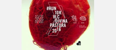 Imagen del cartel carrera 10K Divina Pastora Valencia 2016