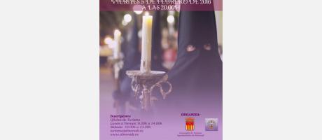 cartel ruta ermitas nocturna en Almoradí