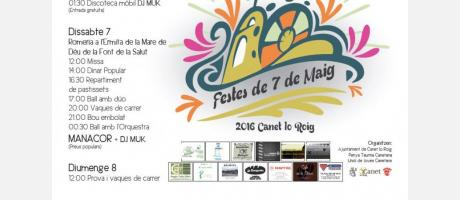 Cartel fiestas del 7 de mayo