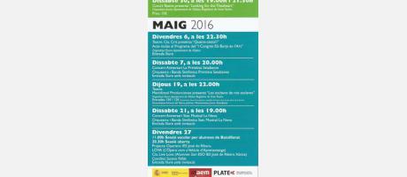 PROGRAMACIÓN GRAN TEATRE DE XÀTIVA ABRIL 2016