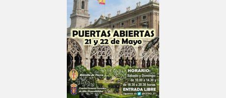 cartel anunciador de las puertas abiertas convento de Santo Domingo