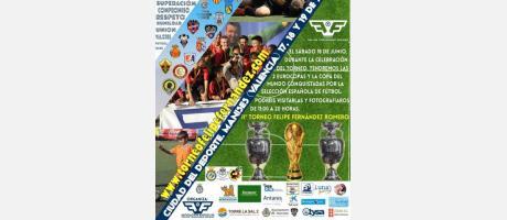 Cartel del Torneo de Fútbol Felipe Fernández