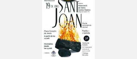 cartel anunciador de la fiesta en honor a San Juan.