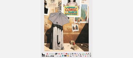 Cartel anunciador de las V Jornadas del Cómic de Valencia